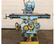 """50"""" Table 3HP Spindle Brown  Sharpe #2 UNIVERSAL MILL, Universal Head  Table, #40 Tap"""
